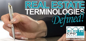 Real Estate Terminologies Defined