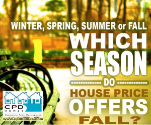 seasons where house price offers fall