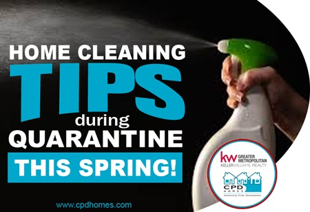 Top 5 Home Cleaning Tips During Quarantine This Spring!