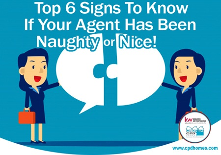 Top 6 Signs To Know If Your Agent Has Been Naughty or Nice!